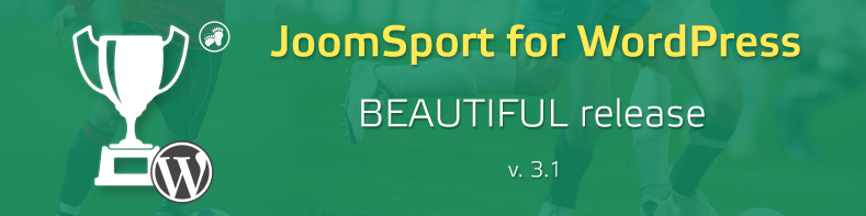 JoomSport 3.1 delivers a pure beauty